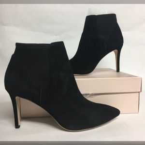 LOEFFLER RANDALL Val Black Suede Ankle Boots